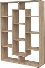 Raumteiler 11 Fächer Sonoma Eiche Bücherregal