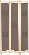 Raumteiler 3-teiliger Raumteiler Braun 120 x 170 x