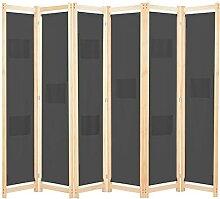 Raumteiler 6-teiliger Raumteiler Grau 240 x 170 x