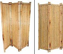Raumteiler aus gelben Bambus, 180 x 180cm 3teilig