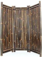 Raumteiler aus schwarzen Bambus, 180 x 180cm