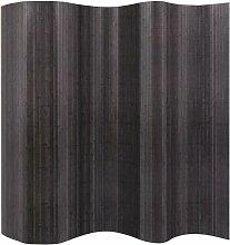 Raumteiler Bambus Grau 250 x 195 cm 10696 - Topdeal