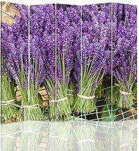 Raumteiler Bouquet Lavender mit 5 Paneelen