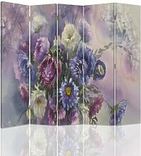Raumteiler Bouquet of Flowers mit 5 Paneelen