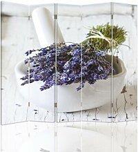 Raumteiler Bouquet of Lavender mit 5 Paneelen