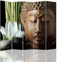 Raumteiler Buddha mit 5 Paneelen