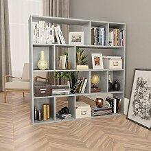 Raumteiler/Bücherregal Betongrau 110×24×110 cm