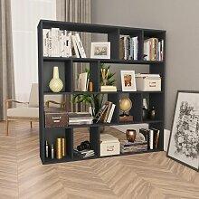 Raumteiler/Bücherregal Grau 110×24×110 cm