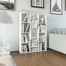 Raumteiler/Bücherregal Hochglanz-Weiß
