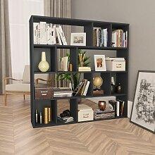 Raumteiler/Bücherregal Hochglanzschwarz