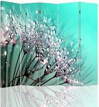 Raumteiler Dandelion and Dew mit 5 Paneelen