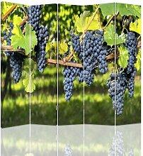 Raumteiler Dark Grapes mit 5 Paneelen
