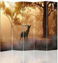 Raumteiler Deer Rut mit 5 Paneelen