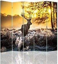 Raumteiler Deer Sunset mit 5 Paneelen