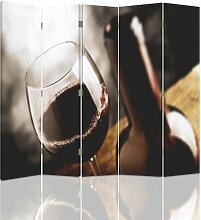 Raumteiler Glass of Wine mit 5 Paneelen