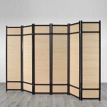 Raumteiler mit Bambus-Füllung Extrabreit