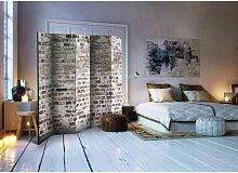 Raumteiler mit Mauer Motiv 5 Elementen