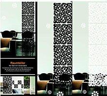 Raumteiler Moderner Motiv Klassik schwarz