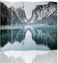 Raumteiler Mountains Landscape mit 5 Paneelen