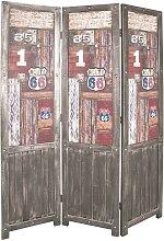 Raumteiler Paravent in Braun Bunt Vintage Look