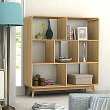 Raumteiler Regal in Holz Naturfarben Skandi Design
