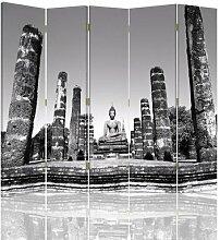 Raumteiler Shakyamuni mit 5 Paneelen