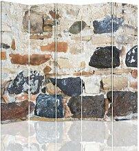 Raumteiler Stone Wall mit 5 Paneelen
