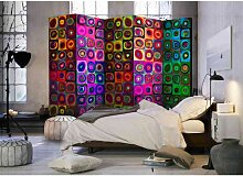 Raumteiler Trennwand in Bunt Formen Muster