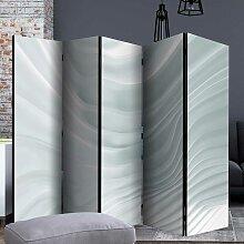 Raumteiler Trennwand in Weiß und Grau fünf
