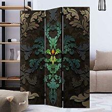 Raumteiler Trennwand mit floralem Blättermotiv