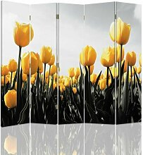 Raumteiler Tulips mit 5 Paneelen