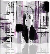Raumteiler Woman in Abstraction mit 5 Paneelen