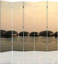 Raumteiler Zen Stones mit 5 Paneelen