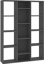 Raumtrenner Raumteiler Bücherregal Grau