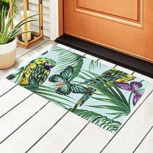 RAUP Indoor Fußmatte Tropical Floral Pattern