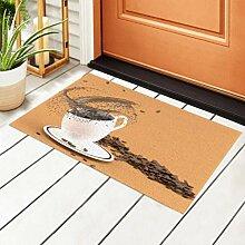 RAUP Indoor Fußmatte weiße Kaffeetasse Splash