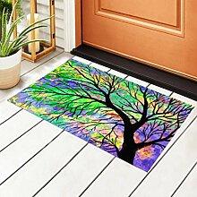 RAUP Innen Fußmatte Aquarell Malerei Baum auf