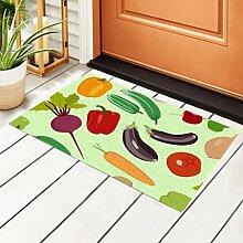 RAUP Innen Fußmatte Gemüse Bilder Gemüse Flat