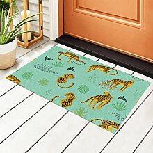RAUP Innen Fußmatte Vintage Cheetah Art Fabric