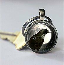 Raven Schlüsselanhänger, Raven im Vollmond,