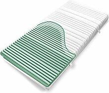 Ravensberger Kaltschaummatratze Softwelle, (80 x 200 cm), 7-Zonen Matratze (H3, Raumgewicht RG 40), Baumwoll-Bezug waschbar, LGA und TÜV geprüf