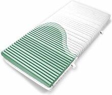 Ravensberger Kaltschaummatratze Softwelle, (90 x 200 cm), 7-Zonen Matratze (H3, Raumgewicht RG 40), Medicott-Bezug waschbar, LGA und TÜV geprüf