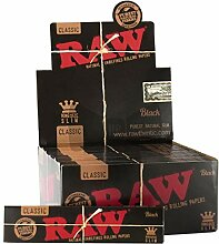 Raw Black Kingsize Box 50 Stück + 1 x Clipper-Jet