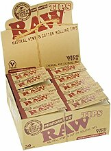 RAW Hanf-Filtertips perforiert - 50 x + Tabakdose