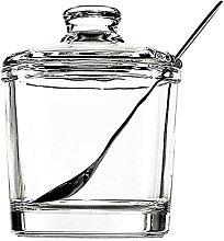 Rawken Zuckerdose aus verdicktem Glas mit