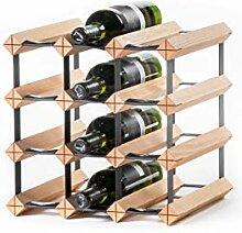 RAXI Marken Holz Weinregal Classic für 12