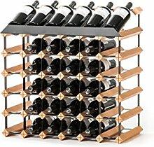 RAXI Marken Holz Weinregal Show für 36x Flaschen