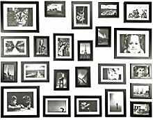 Ray & Chow 23er Schwarz Holz Bilderrahmen Wand Set