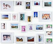 Ray & Chow 23er Weiß Holz Bilderrahmen Wand Set