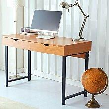 RayGar Computer-Schreibtisch mit 2 Schubladen,